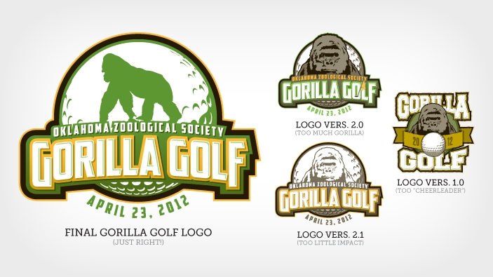 Gorilla Golf Logo Iterations