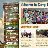Camp ClapHans Website Design