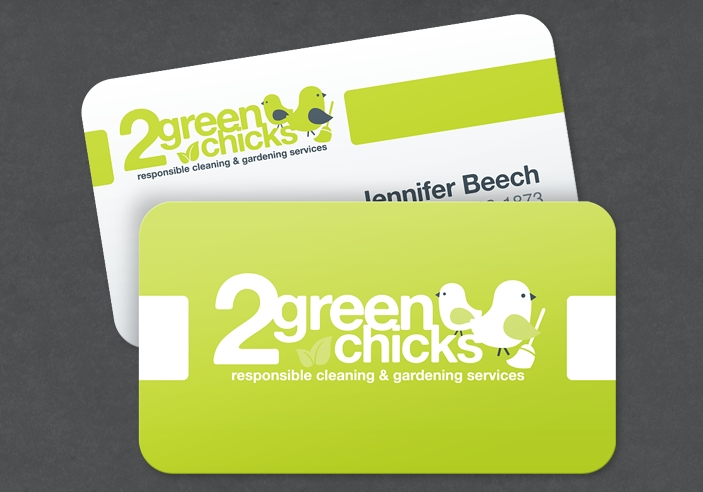 2 green chicks business card design portfolio colored bean 2 green chicks business card design colourmoves