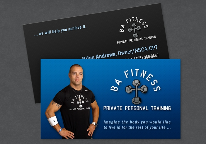 BA Fitness Business Card Design