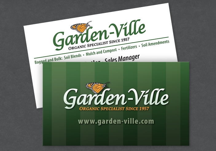 Awesome Garden Ville Business Card Design