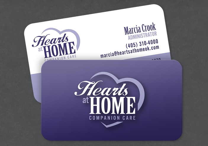 Hearts at Home Business Card Design Portfolio | Colored