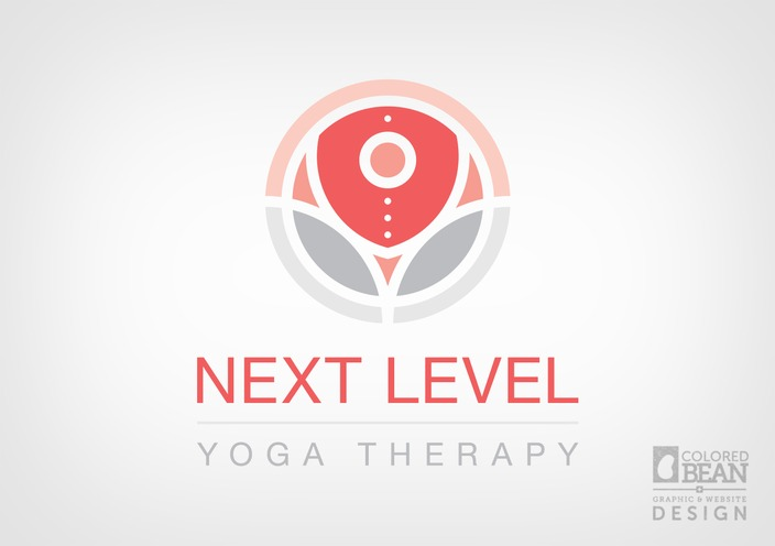 Character Design Logo : Next level yoga logo portfolio colored bean productions