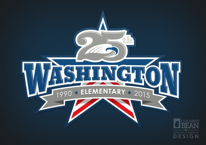 Washington Elementary School 25th Anniversary Logo