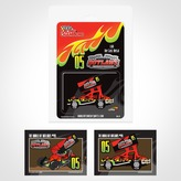 Sprint Car Blister Pack Mock-up and Trading Card Roughs