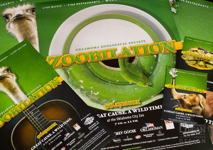 Zoobilation Fundraiser Campaign Posters and Postcards