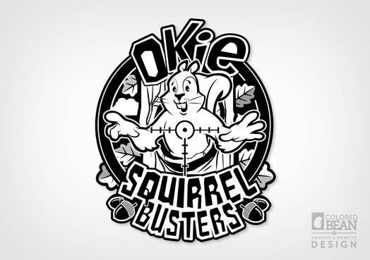 Okie Squirrel Busters 1-Color Logo Design
