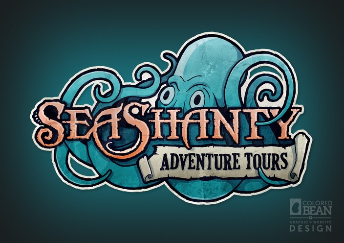 Sea Shanty Adventure Tours Primary Logo Design