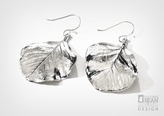 Ironwood Leaf Earrings with Silver Finish
