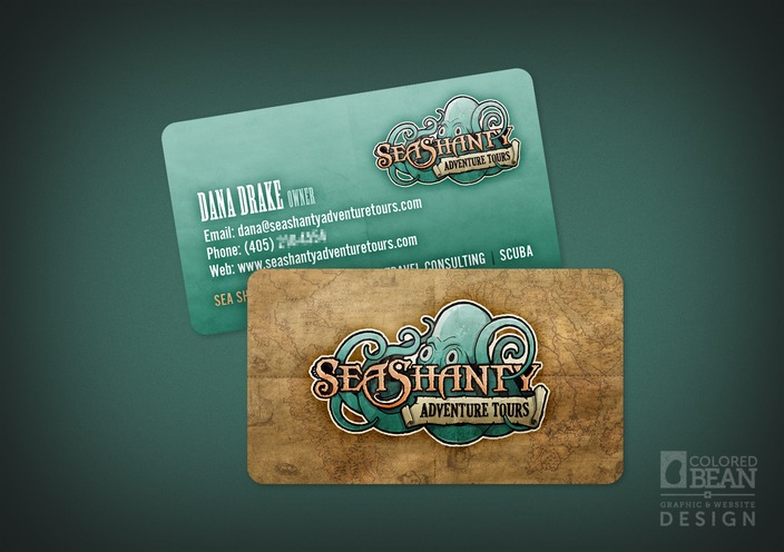 Sea shanty business cards portfolio colored bean productions llc sea shanty adventure tours business card design colourmoves Choice Image