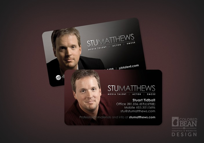 Stu Matthews Updated Business Card Design