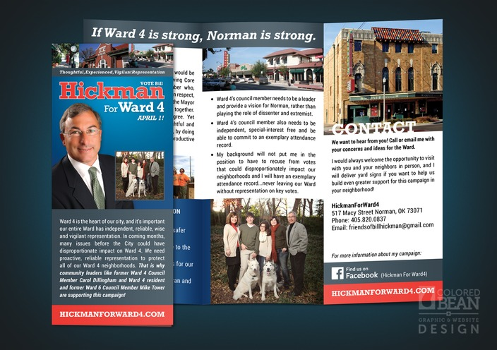 Bill Hickman for Ward 4 Campaign Brochure Design