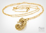 Seahorse Necklace with Gold Finish from Alyxia Leaf