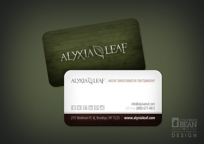 Alyxia Leaf Business Card Design (Generic Version)