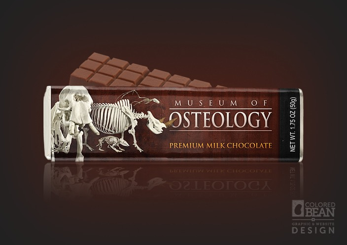 Museum of Osteology Premium Milk Chocolate Bar Design