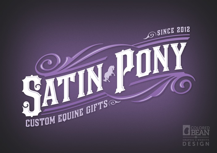 Satin Pony Custom Equine Gifts Logo Design - Full-color Version