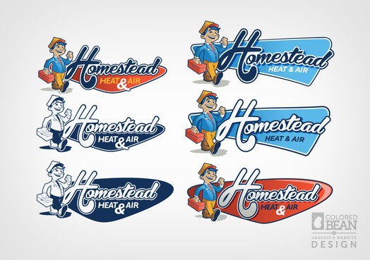 Homestead Logo Early Versions