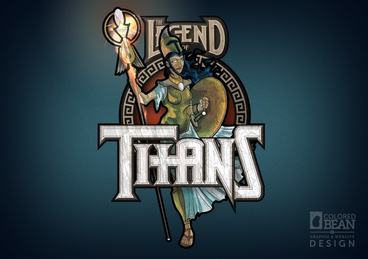 Alternate Legend of Titans Logo Design feat. Athena (early version)