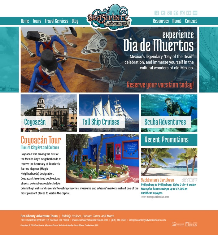 Sea Shanty Adventure Tours Website Design